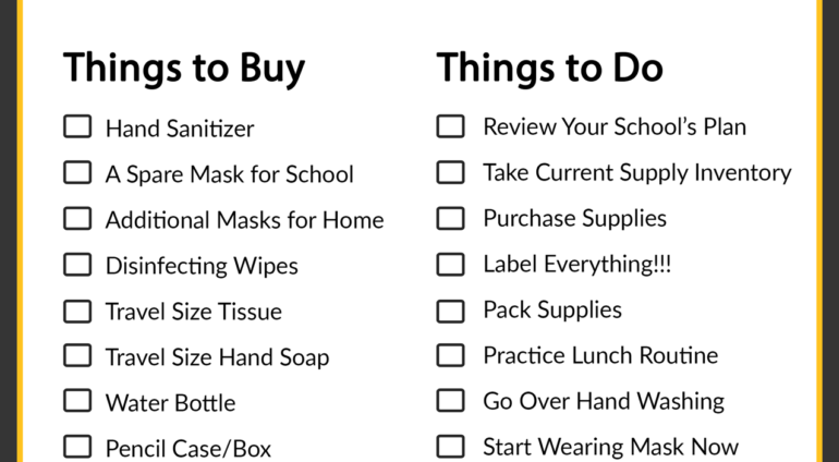 COVID Back-to-School Checklist
